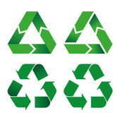 Illustration icon recycling symbol. Ideal for catalogs, informative and recycling guides. — Stock Vector
