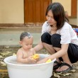 Mother and baby , Family scene — Stock Photo #72150469