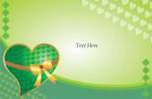 Green valentine wallpaper — Vector de stock