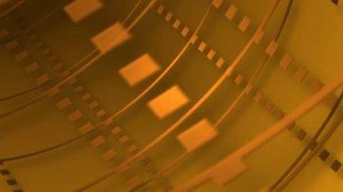 Moving golden tube — Stock Video