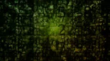 Moving matrix grunge — Stock Video