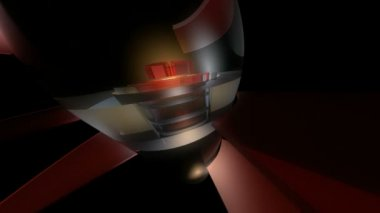 Moving reactor capsule — Stock Video