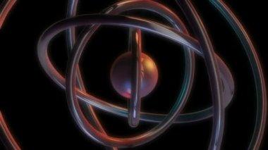 Metal ball orbit — Stock Video