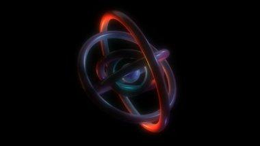 Abstract orbit torus — Stock Video