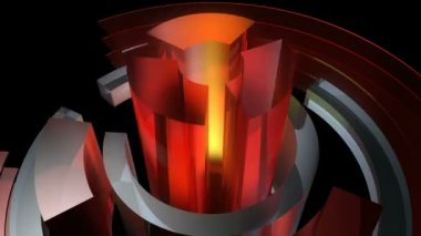 Abstract glossy reactor — Stock Video