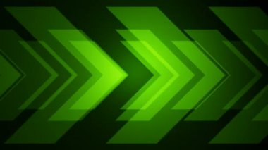 Moving green arrows — Stock Video