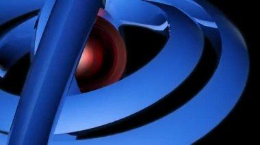 Blue orbital neon — Stock Video