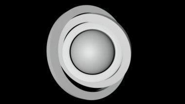 White ball orbit — Stock Video