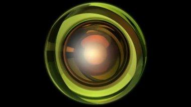Abstract  green orbit — Stock Video