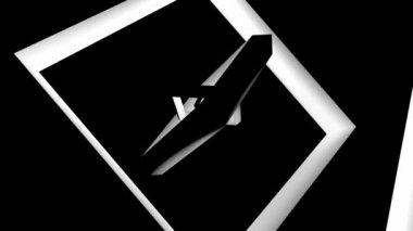 Moving metal squares — Stock Video