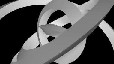 Matte rings orbit — Stock Video