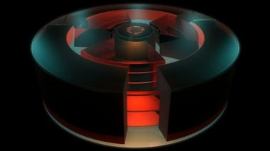 Abstract reactor engine — Stock Video
