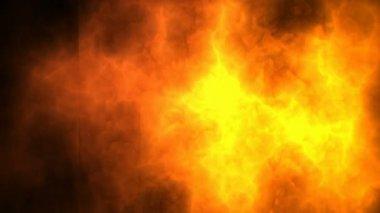 Flickering and burning grunde — Stock Video