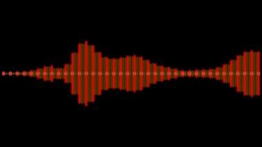 Onda digital audio móvil — Vídeo de Stock