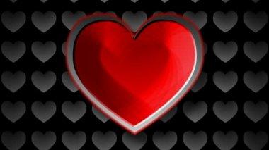 Símbolo del corazón colorido — Vídeo de Stock