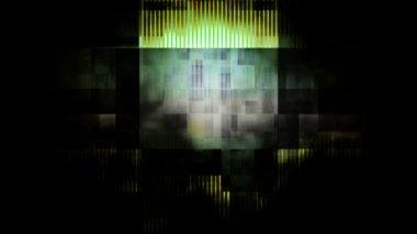 Flickering damage spotlights — Stock Video
