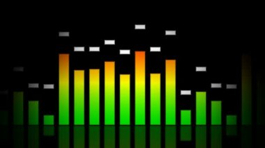Playing glassy equalizer — Stok video