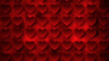 Red moving hearts — Stock Video