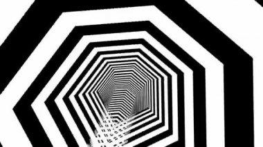 Dark infinity tunnel — Stock video