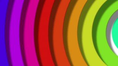Moving rainbow radial — Stock Video