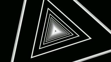 Túnel de triángulos blancos móviles — Vídeo de Stock