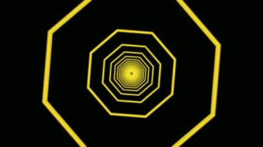 Moving  yellow octagons — Stock Video
