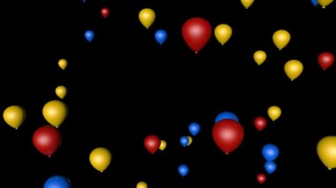 Flying colored air balloons — Wideo stockowe