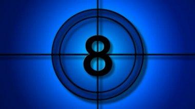 Glassy time countdown — Stok video