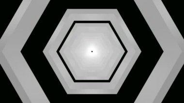 Hareketli altıgen tünel — Stok video