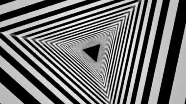 Rotating black and white triangles — Stock Video