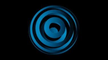 Verplaatsen blauw gestreepte globe — Stockvideo