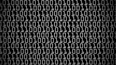 Moving binary code numbers — Stock Video