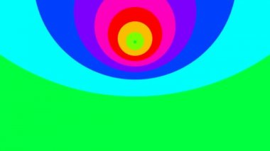 Moving circles in rainbow colors — Stock Video