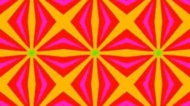 Schöne bunte kaleidoskopischen Mustern — Stockvideo