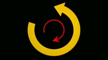 Rotating arrow icons — Stock Video
