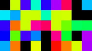 Flashing colorful squares — Stockvideo