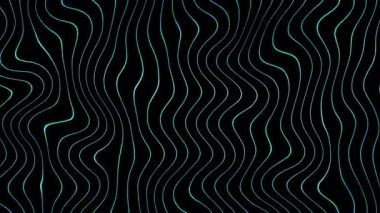 Moving blue wavy lines — Stock Video