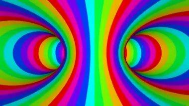 Gira el carrusel de color — Vídeo de Stock