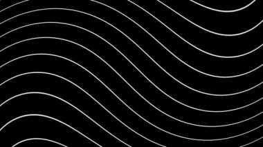 Moving white wavy lines — Vídeo stock