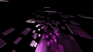 Purple rotating glass rectangles — Stock Video