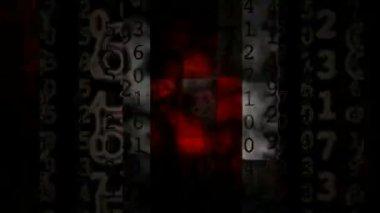изменение матричных чисел — Стоковое видео