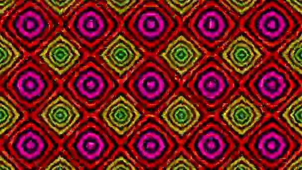 Hermosos coloridos patrones caleidoscópicos — Vídeo de stock