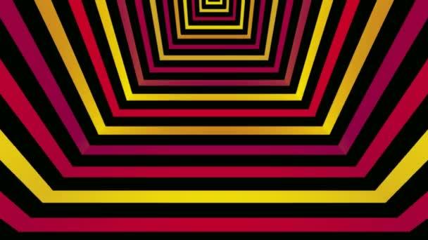 Líneas de colorido de la esquina cuadrada — Vídeo de stock