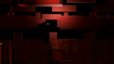 Leaping red glass rectangles — Stock Video