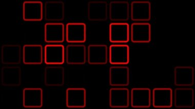 Flashing red squares — Stock Video