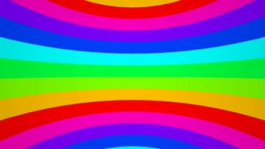 Moving stripes in rainbow colors — Stock Video