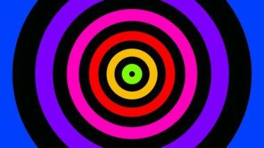 Pulsierende Ringe in Regenbogenfarben — Stockvideo