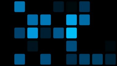 Flashing blue squares — Stockvideo