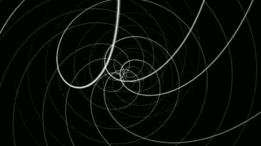 Moving hypnotic spirals — Stock Video