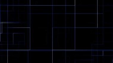 Blue line circuit — Stock Video